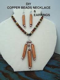 copper jewelry necklace images Diy copper beads necklace and earrings paper jewelry jewelry jpg
