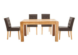 Dark Oak Dining Table Chair Dark Oak 180cm Dining Table Amp 4 Marcello Brown Chairs