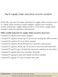 Thank You Letter After Job Interview Executive Assistant top8supplychainexecutiveresumesamples 150520134700 lva1 app6892 thumbnail 4 jpg cb 1432129669
