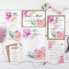 wedding invitation rsvp date summer bloom wedding invitation by nina thomas studio