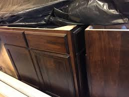 How To Stain Kitchen Cabinets by The Story Of The Wood Stain A Project Couple Married Couple