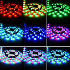rgb led light strips ledgle 16 4ft led light strip led strip lights 300leds smd3528