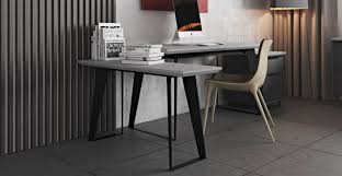 Grey Office Desk Urbano Gray Concrete Modern Office Desk Return Sobe Furniture