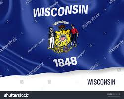 Names For The Us Flag Flag Us State Wisconsin Waving On Stock Illustration 633301814