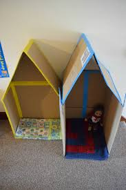Cardboard House by Cardboard Box And Toilet Roll Craft Ideas This Mother A Uk