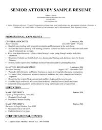 Sample Education Resumes by Sample Resume For Attorney Free Resumes Tips
