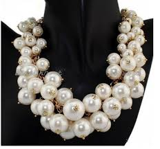 big pearls necklace images 2014 fashion choker brand necklace multilayer big pearl necklace jpg