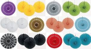 tissue paper fans decorative tissue paper fans