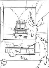 elliot watching tv open season coloring pages bulk color