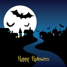 halloween night card vector free vector 4vector