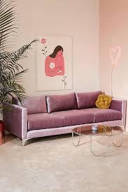 urban outfitters chamberlin velvet sofa lavender home decor