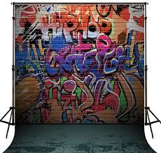 computer graffiti hip hop photo backdrop vinyl cloth high quality computer printed
