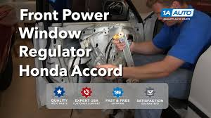 how to install replace front power window motor regulator honda