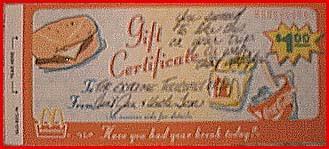 mcdonalds gift card discount mcdonalds gift certificate booklets lamoureph