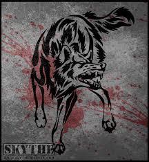 wolf snarl attack tribal by nathalienova on deviantart