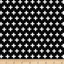 Crosses Home Decor Remix Crosses Black Discount Designer Fabric Fabric Com