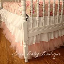Bed Skirts For Cribs Ready To Ship Teal And Pink 6 Tiered Ruffled Crib Skirt