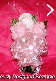 Baby Sock Corsage Baby Shower Corsages Three Bud Sock Corsage