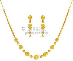 gold necklace design sets images 22k gold designer set stgo19766 22k gold necklace and earring jpg