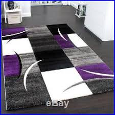 new design rug soft rugs modern karo carpets grey purple area mats