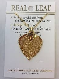 real leaf necklace images Necklace rocky mountain leaf available in four colors frisco JPG
