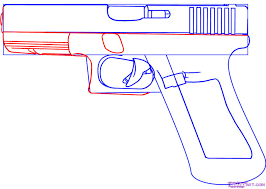 how to draw a gun step by step guns weapons free online