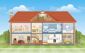 Bathtub Cutaway Cutaway House Stock Vector Art 481971029 Istock