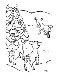 rudolph u0027s friends coloring pages hellokids com
