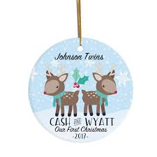 twins ornament personalized christmas ornament ornament for