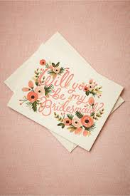 bridesmaid cards blooming bridesmaid card in sale bhldn