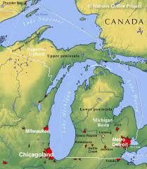 map of michigan reference map of michigan usa nations project