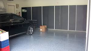 Garage Design by Red Wall Painted Interior Color Decor House Car Garage Design
