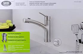 water ridge kitchen faucet water ridge brushed nickel pull out kitchen faucet fp2b0000