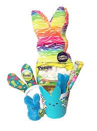 peeps easter basket plush peeps easter basket gift 17 tie dyed rainbow