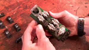 how to fix the chev power window door lock switch youtube
