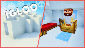 Minecraft How To Make A Furniture by Minecraft How To Make A Igloo Youtube