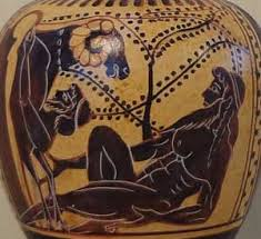 Ancient Greek Vase Painting Black Figure Oinochoe Odysseus And The Cyclops Replicas Of