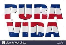 Costarica Flag Pura Vida Costa Rican Flag Stock Photo Royalty Free Image