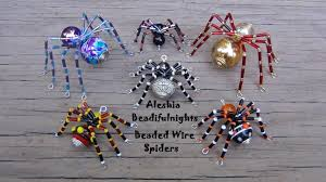 How To Make Jewelry Out Of Wire - beaded wire spider tutorial youtube