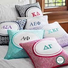 Monogrammed Comforters Greek Monogram Pillow Cover Pbteen