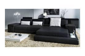 salon canapé noir canapé d angle en cuir design avignon