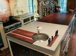 custom wood and concrete countertops