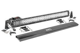 30 inch led light bar 30 inch cree led light bar dual row chrome series brick city fab