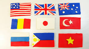 Japanese Fish Flag 9 Play Doh Flags Crafted Usa United Kingdom Australia Romania