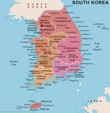 map us and korea free south korea political map political map of south korea