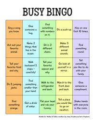 printable busy bingo the will make and takes