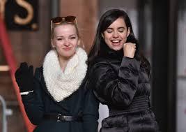 thanksgiving day parade lineup dove cameron u0026 sofia carson 2015 macy u0027s thanksgiving day parade