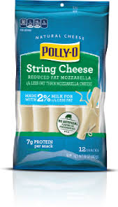 carbs in light string cheese products polly o string cheese