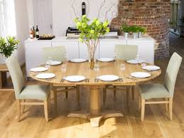 circular dining room elmdon oak circular dining table and 4 cream chairs luxury home
