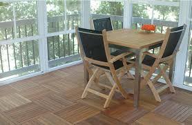 Teak Patio Flooring by Infinita Corporation Le Click 16